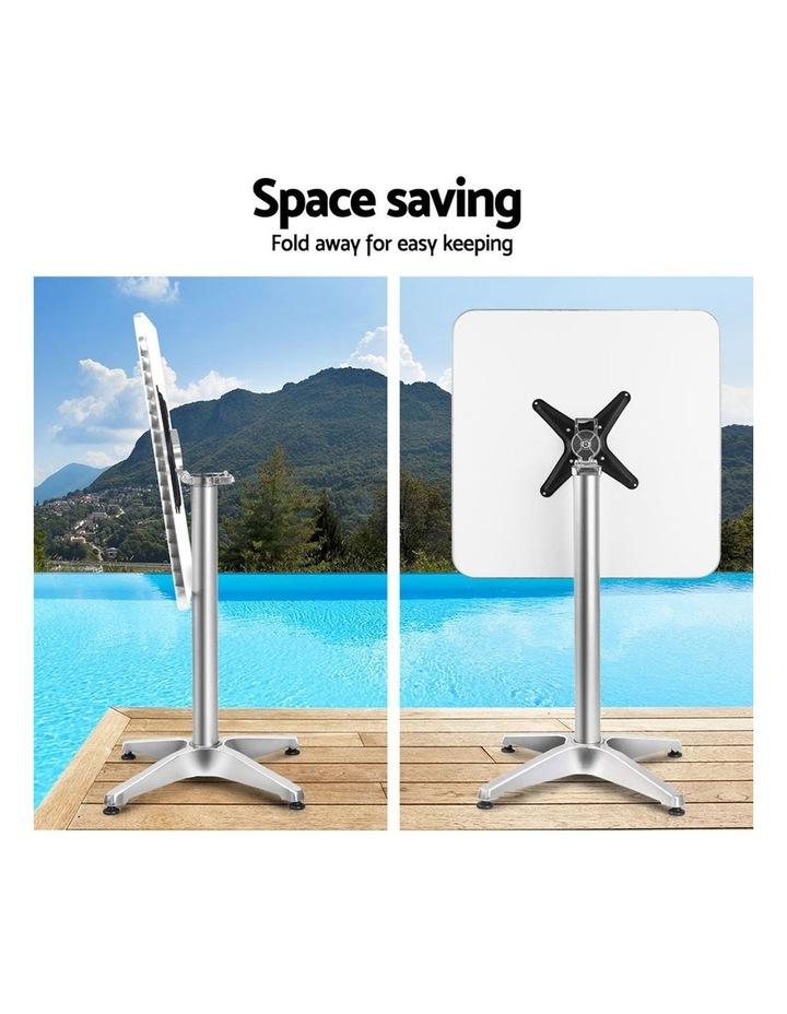 Bar Table Outdoor Furniture Adjustable Aluminium Pub Cafe Indoor Square image 4