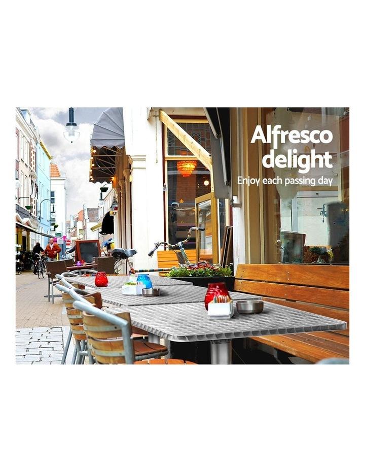 Bar Table Outdoor Furniture Adjustable Aluminium Pub Cafe Indoor Square image 5