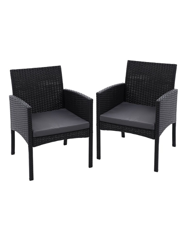 Outdoor Bistro Chairs Patio Furniture Dining Chair Wicker Garden Cushion image 1