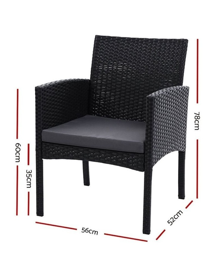 Outdoor Bistro Chairs Patio Furniture Dining Chair Wicker Garden Cushion image 2