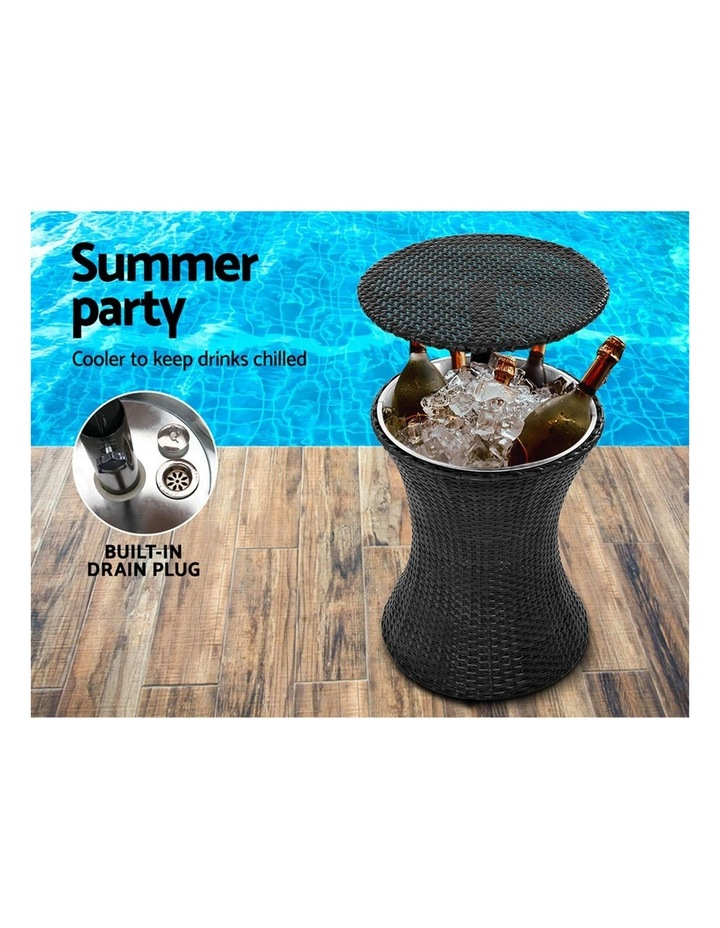 Outdoor Furniture Wicker Chairs Bar Table Cooler Ice Bucket Patio Coffee Bistro Set image 6