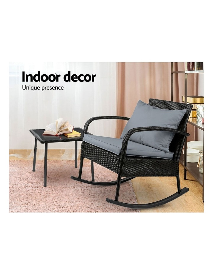 Wicker Rocking Chairs Table Set Outdoor Setting Recliner Patio Furniture image 5
