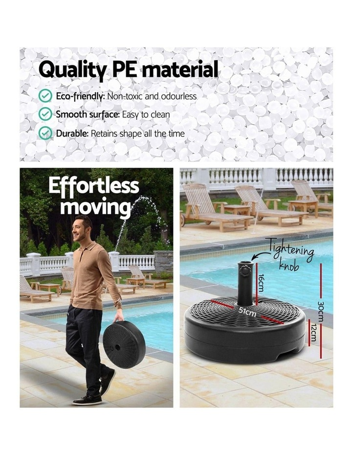 Outdoor Pole Umbrella Stand Base Pod Sand/Water Patio Cantilever Offset image 5