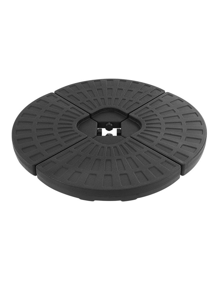 Outdoor Umbrella Stand 4 x Base Pod Plate Sand/Water Patio Cantilever Fanshaped image 1