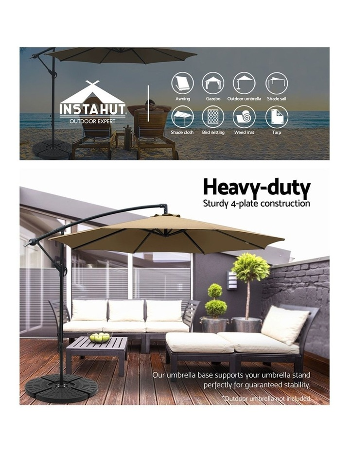 Outdoor Umbrella Stand 4 x Base Pod Plate Sand/Water Patio Cantilever Fanshaped image 4