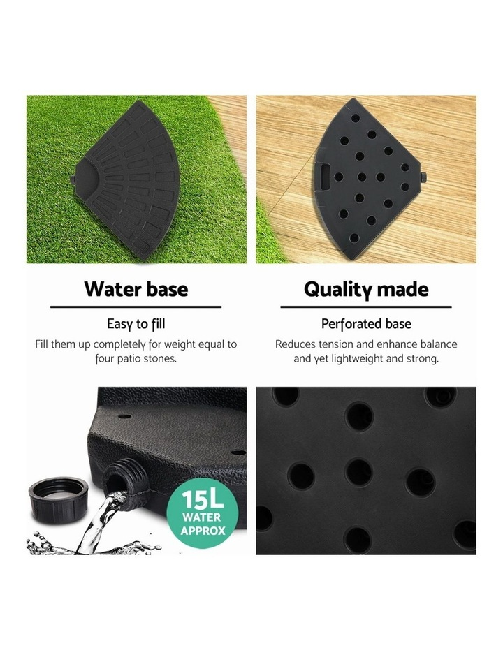 Outdoor Umbrella Stand 4 x Base Pod Plate Sand/Water Patio Cantilever Fanshaped image 5