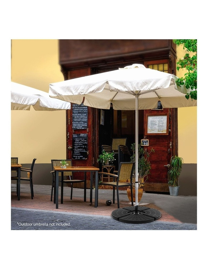 Outdoor Umbrella Stand 4 x Base Pod Plate Sand/Water Patio Cantilever Fanshaped image 6