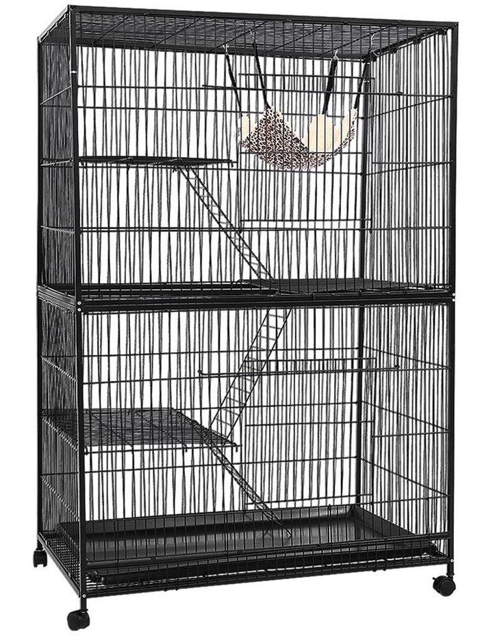 4 Level Rabbit Cage Bird Ferret Parrot Aviary Cat Hamster Castor 142cm image 1