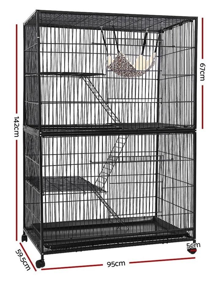 4 Level Rabbit Cage Bird Ferret Parrot Aviary Cat Hamster Castor 142cm image 2