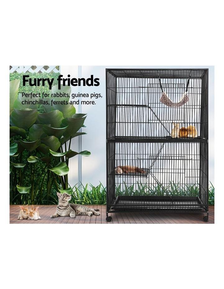 4 Level Rabbit Cage Bird Ferret Parrot Aviary Cat Hamster Castor 142cm image 3
