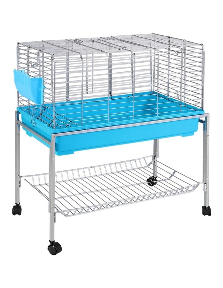 Rabbit Cage Hutch Cages Indoor Hamster Enclosure Bunnings Carrier Bunny Blue image 1