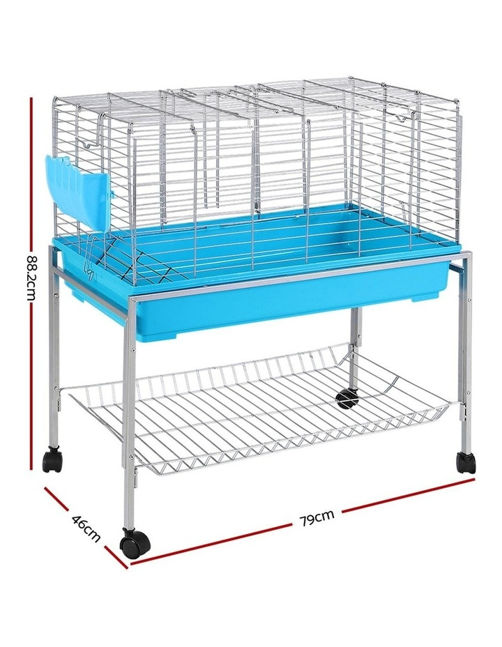 Rabbit Cage Hutch Cages Indoor Hamster Enclosure Bunnings Carrier Bunny Blue image 2