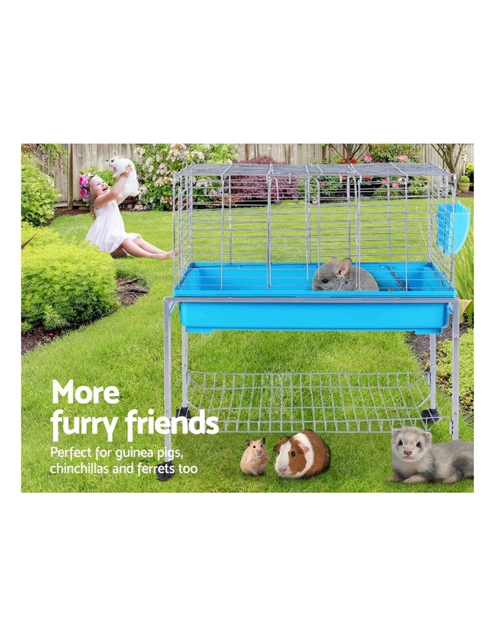 Rabbit Cage Hutch Cages Indoor Hamster Enclosure Bunnings Carrier Bunny Blue image 3