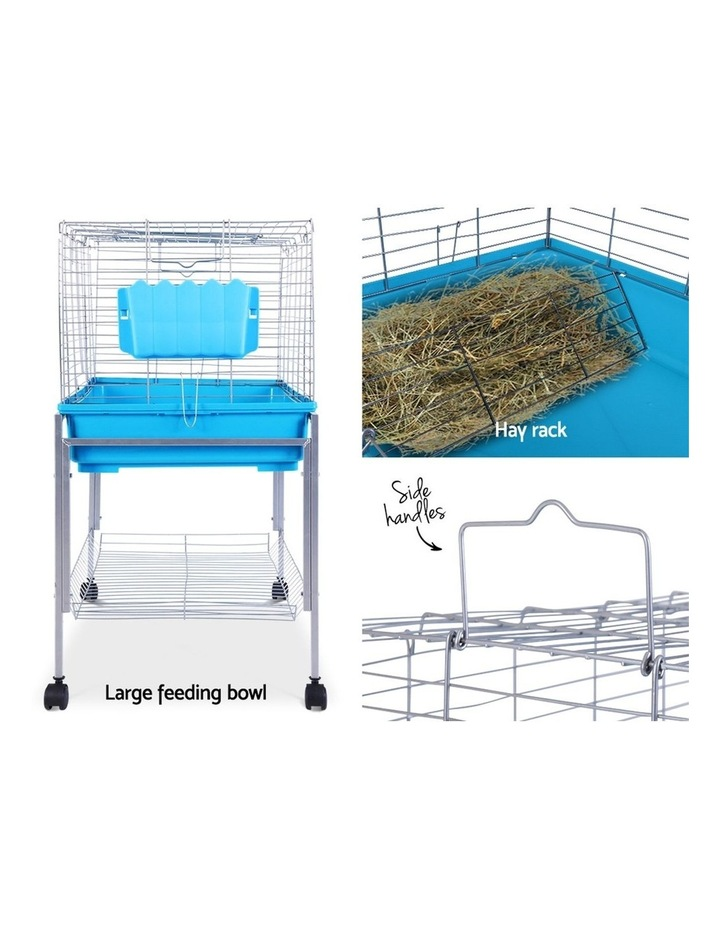 Rabbit Cage Hutch Cages Indoor Hamster Enclosure Bunnings Carrier Bunny Blue image 4
