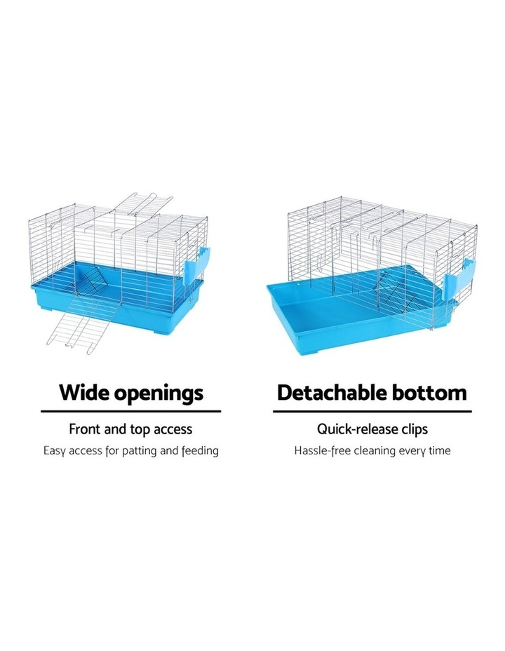 Rabbit Cage Hutch Cages Indoor Hamster Enclosure Bunnings Carrier Bunny Blue image 5