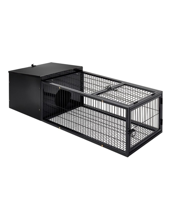 Rabbit Cage Hutch Cages Indoor Outdoor Hamster Enclosure Pet Metal Carrier 122CM Length image 1
