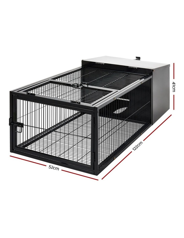 Rabbit Cage Hutch Cages Indoor Outdoor Hamster Enclosure Pet Metal Carrier 122CM Length image 2