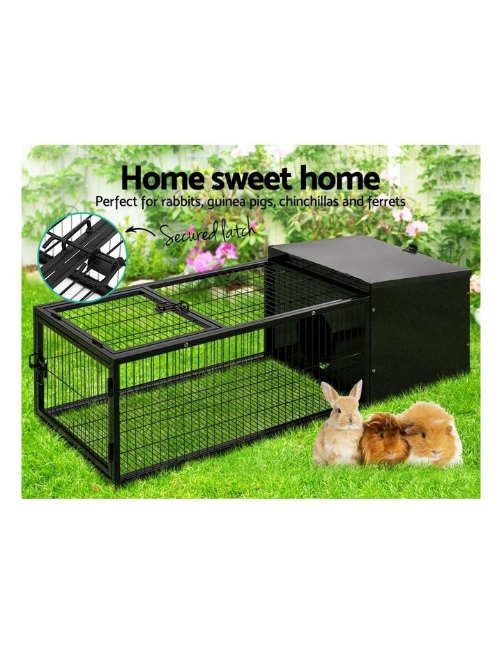 Rabbit Cage Hutch Cages Indoor Outdoor Hamster Enclosure Pet Metal Carrier 122CM Length image 3