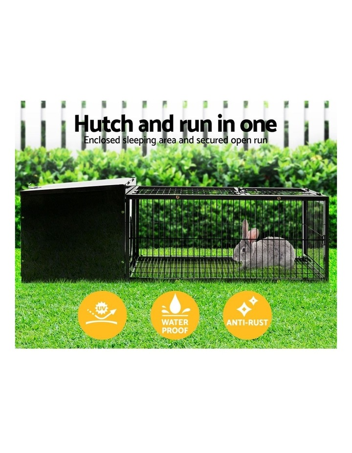 Rabbit Cage Hutch Cages Indoor Outdoor Hamster Enclosure Pet Metal Carrier 122CM Length image 4