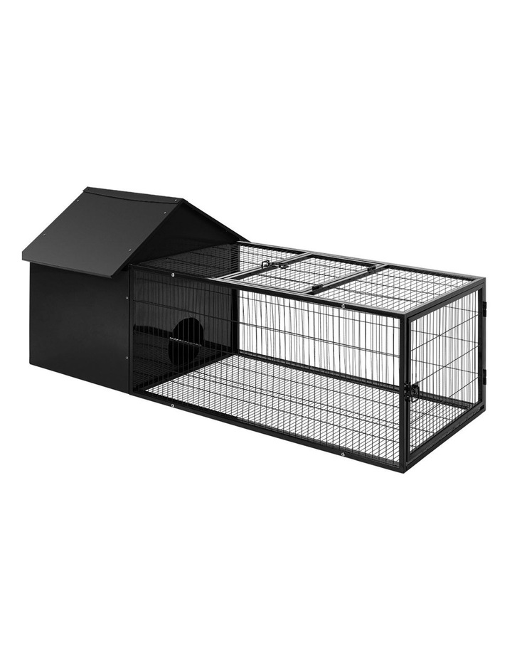 Rabbit Cage Hutch Cages Indoor Outdoor Hamster Enclosure Pet Metal Carrier 162CM Length image 1