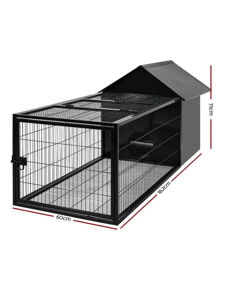 Rabbit Cage Hutch Cages Indoor Outdoor Hamster Enclosure Pet Metal Carrier 162CM Length image 2