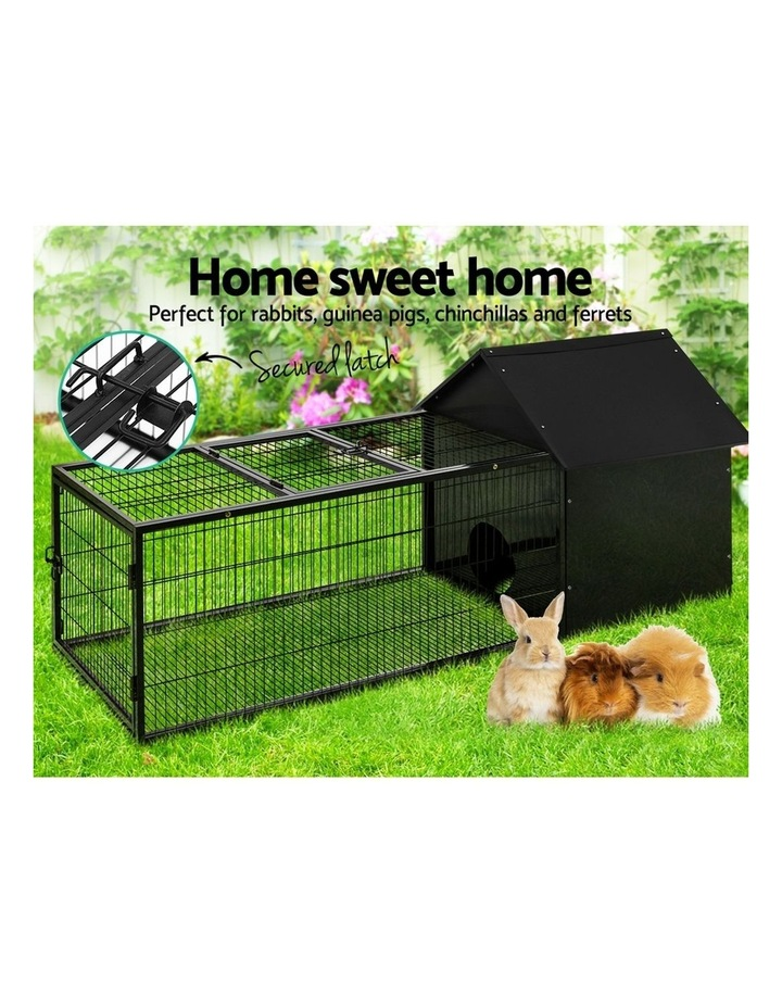 Rabbit Cage Hutch Cages Indoor Outdoor Hamster Enclosure Pet Metal Carrier 162CM Length image 3