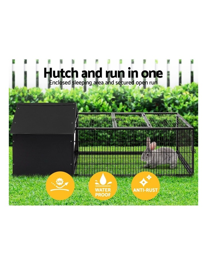 Rabbit Cage Hutch Cages Indoor Outdoor Hamster Enclosure Pet Metal Carrier 162CM Length image 4