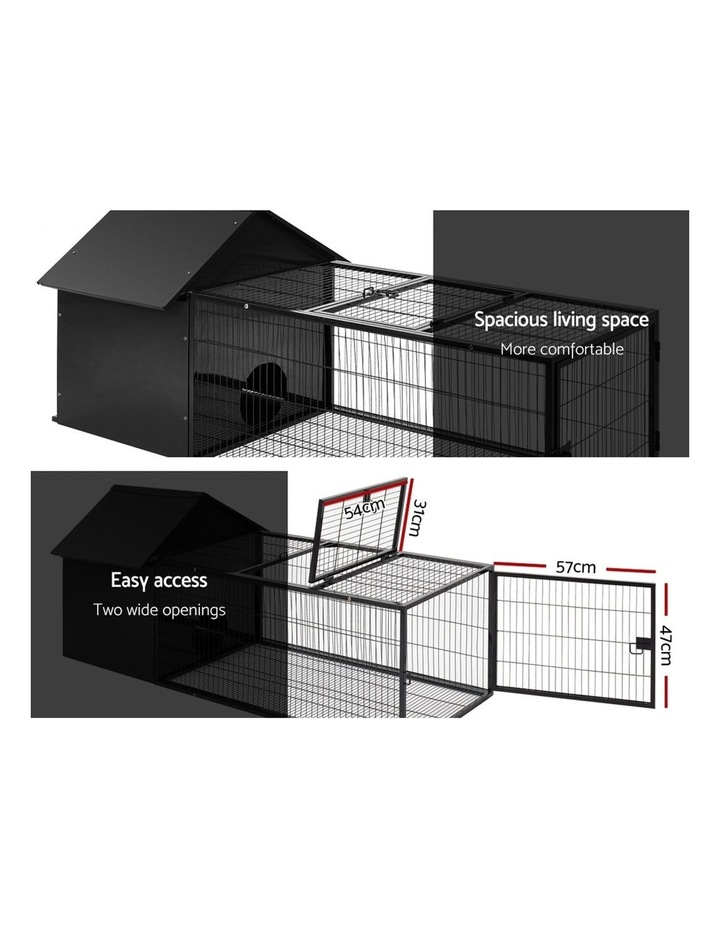 Rabbit Cage Hutch Cages Indoor Outdoor Hamster Enclosure Pet Metal Carrier 162CM Length image 5