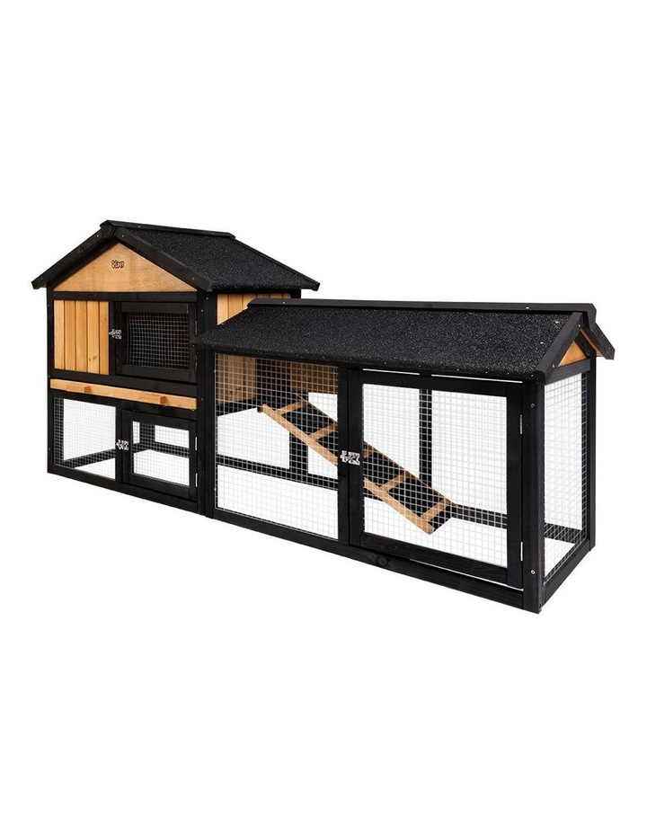 i.Pet Rabbit Hutch Hutches Large Metal Run Wooden Cage image 1