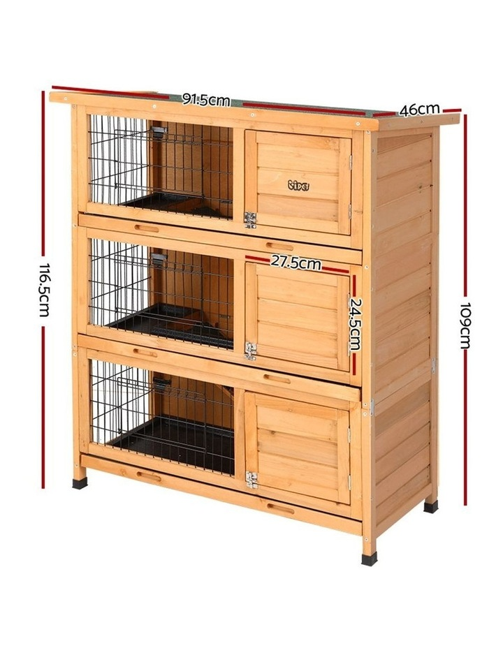 i.Pet Rabbit Hutch Hutches Large Metal Run Wooden Cage image 2