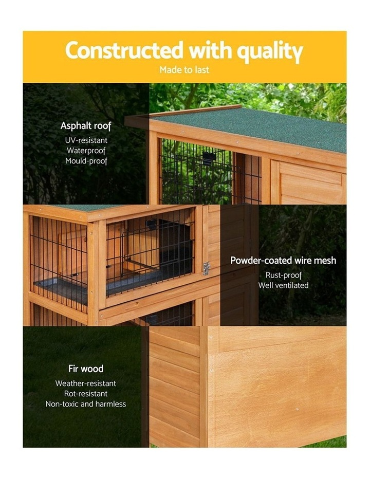 i.Pet Rabbit Hutch Hutches Large Metal Run Wooden Cage image 3