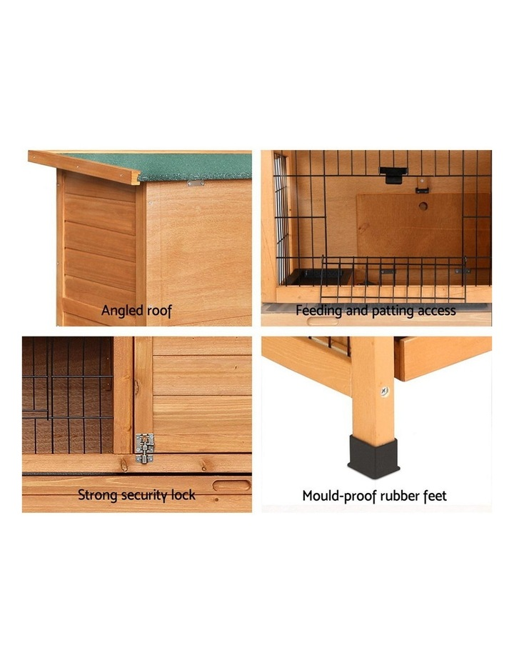 i.Pet Rabbit Hutch Hutches Large Metal Run Wooden Cage image 5