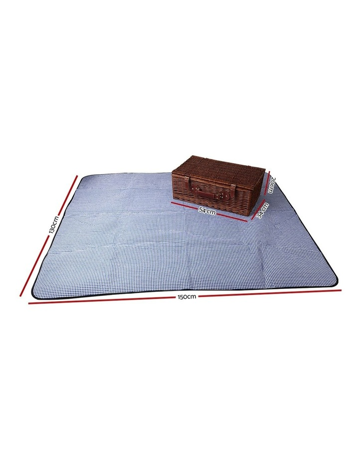 4 Person Picnic Basket Baskets Handle Outdoor Insulated Blanket image 2