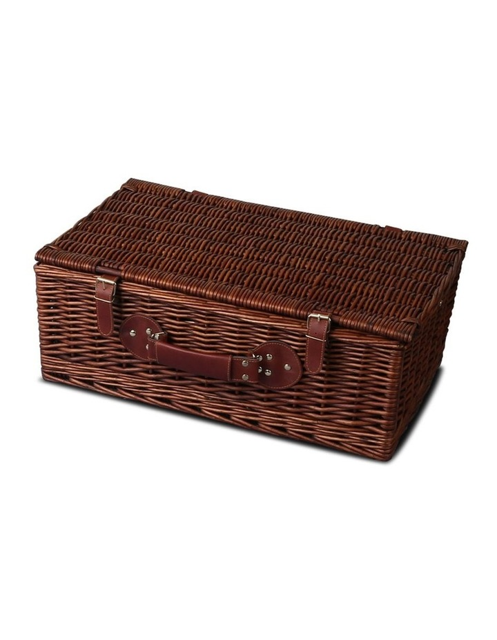 4 Person Picnic Basket Baskets Handle Outdoor Insulated Blanket image 3