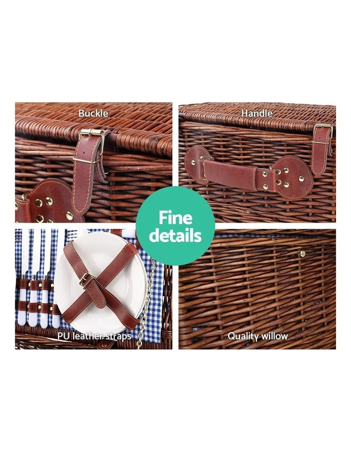 4 Person Picnic Basket Baskets Handle Outdoor Insulated Blanket image 4