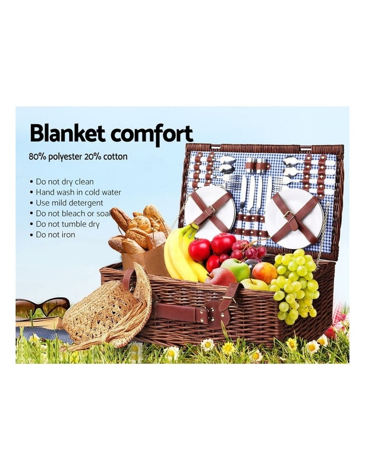 4 Person Picnic Basket Baskets Handle Outdoor Insulated Blanket image 6