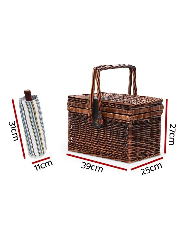 Deluxe 4 Person Picnic Basket Set Folding Outdoor Insulated Liquor bag image 2