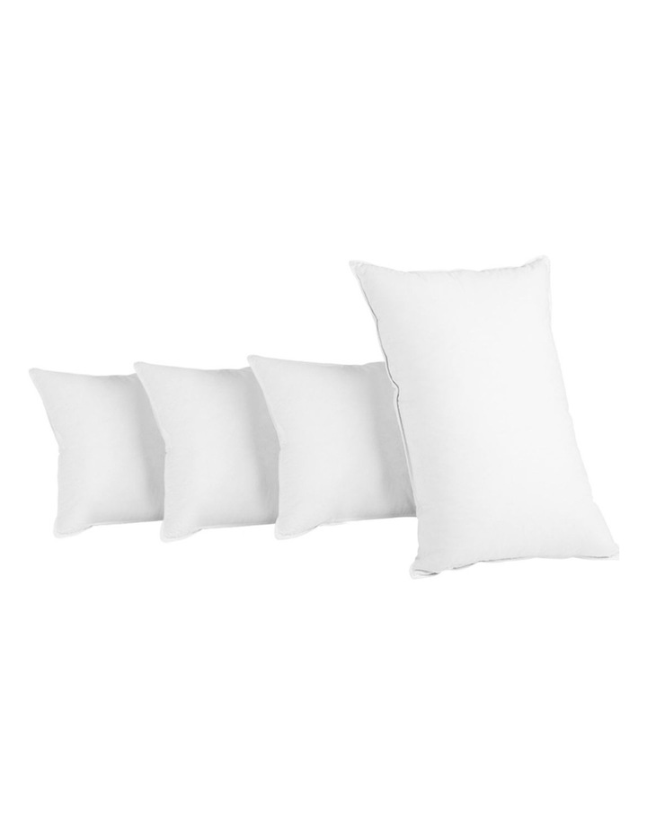 King Size 4 Pack Bed Pillow Medium*2 Firm*2 Microfibre Fiiling image 1