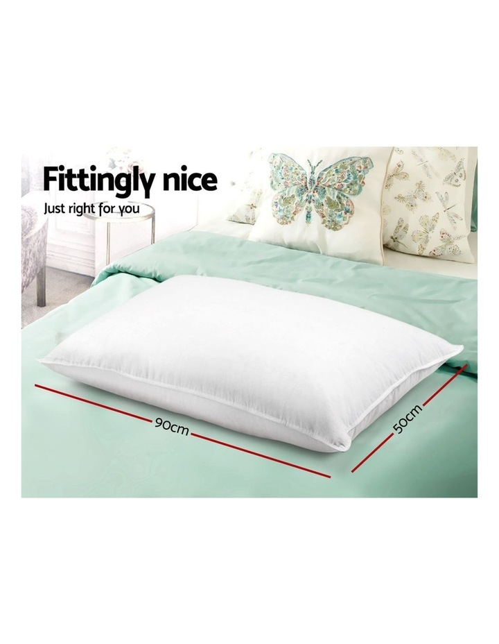 King Size 4 Pack Bed Pillow Medium*2 Firm*2 Microfibre Fiiling image 2