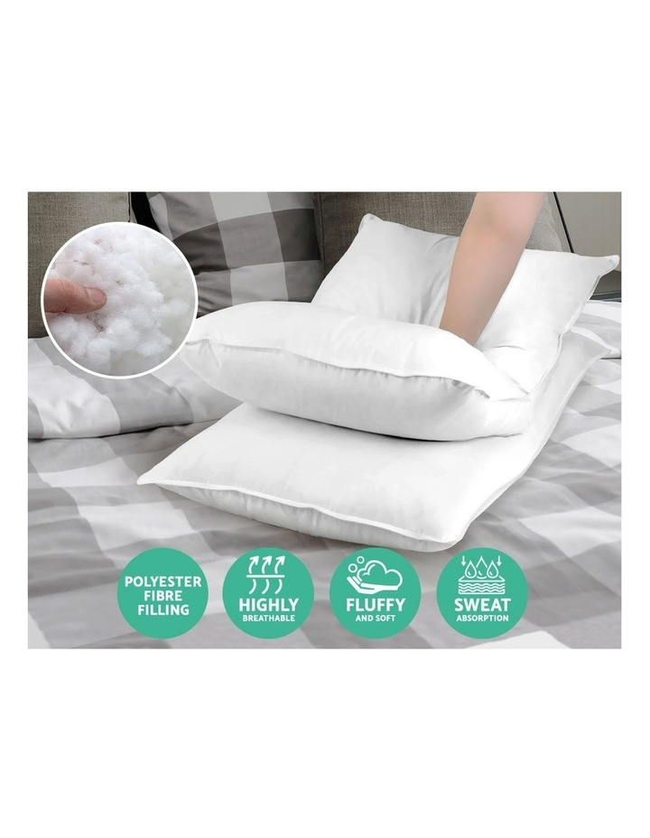 King Size 4 Pack Bed Pillow Medium*2 Firm*2 Microfibre Fiiling image 3