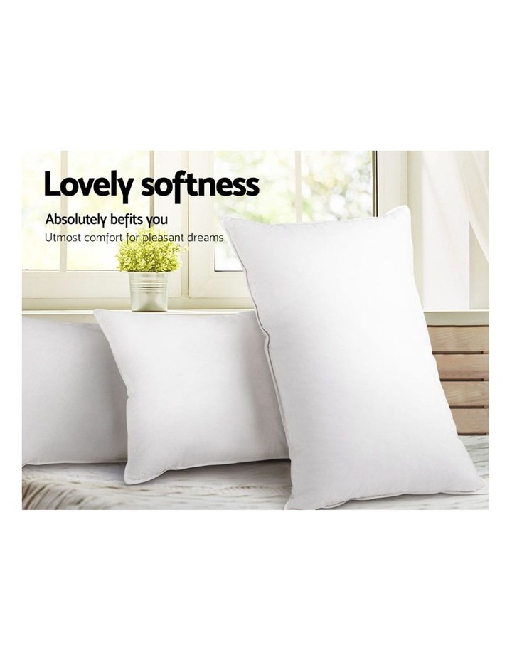 King Size 4 Pack Bed Pillow Medium*2 Firm*2 Microfibre Fiiling image 5
