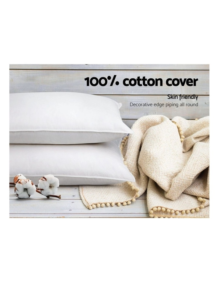 King Size 4 Pack Bed Pillow Medium*2 Firm*2 Microfibre Fiiling image 6
