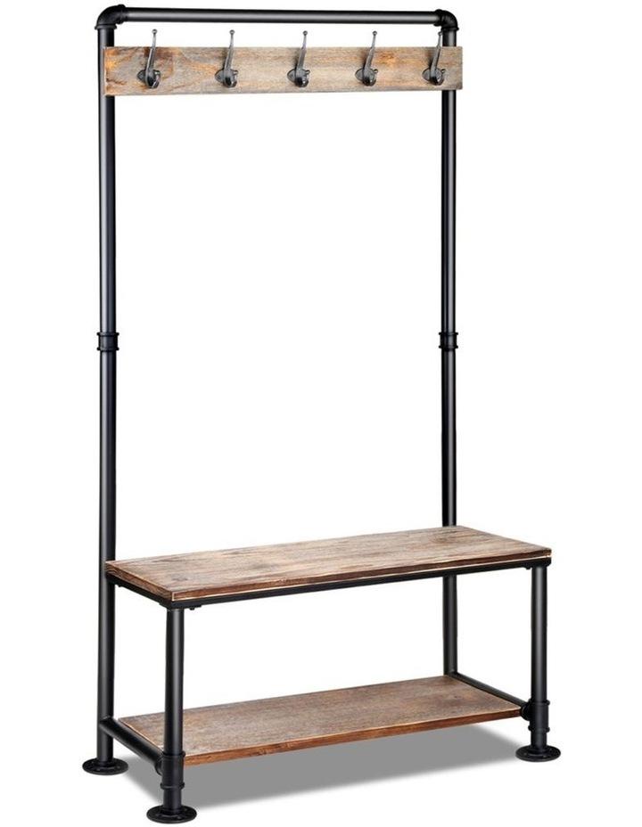 Clothes Rack Coat Stand Garment Organizer Retro Hanger Wooden Airer Shelf image 1