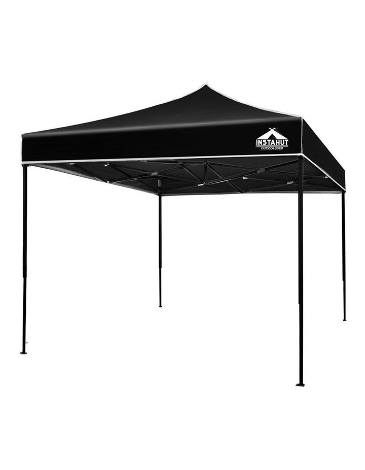 Instahut Gazebo 3x3m Pop Up Marquee Replacement Roof Outdoor Wedding Tent Black image 1