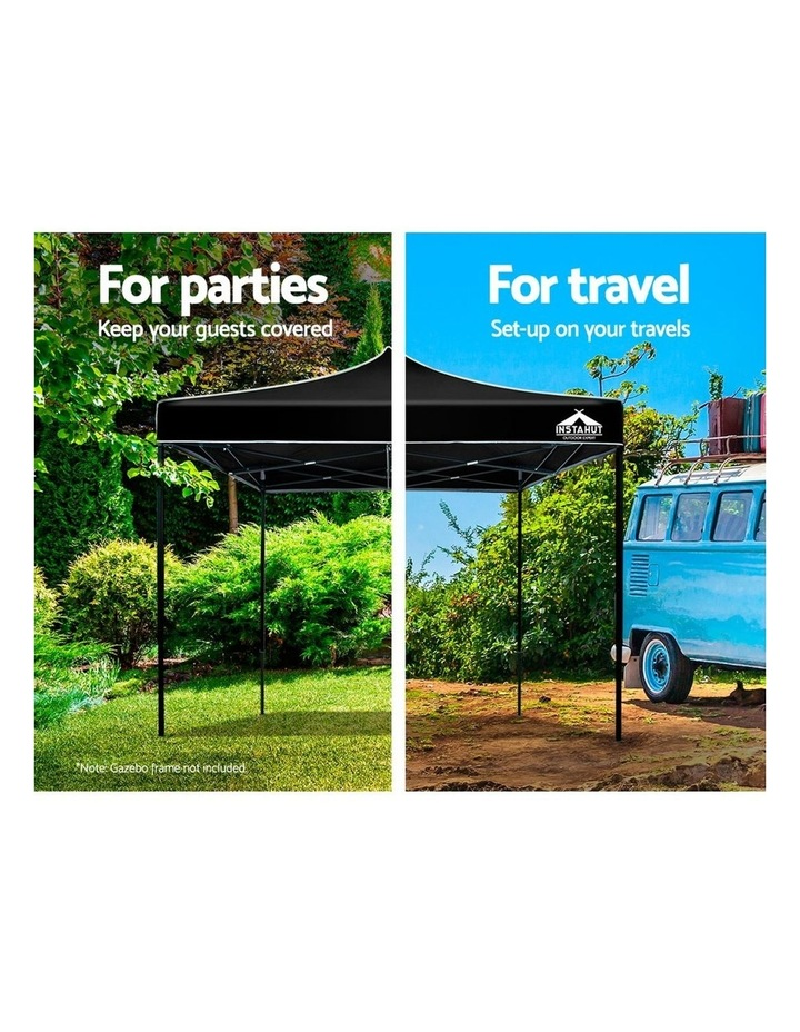 Instahut Gazebo 3x3m Pop Up Marquee Replacement Roof Outdoor Wedding Tent Black image 4