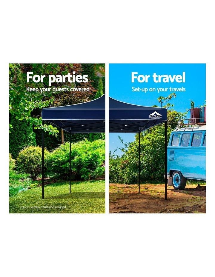 Instahut Gazebo 3x3m Pop Up Marquee Replacement Roof Outdoor Wedding Tent Navy image 4