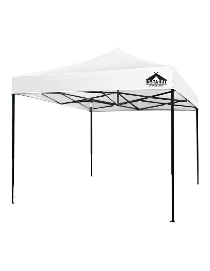 Instahut Gazebo 3x3m Pop Up Marquee Replacement Roof Outdoor Wedding Tent White image 1