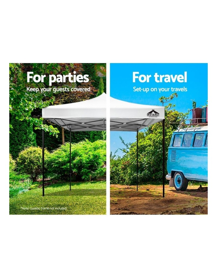 Instahut Gazebo 3x3m Pop Up Marquee Replacement Roof Outdoor Wedding Tent White image 4