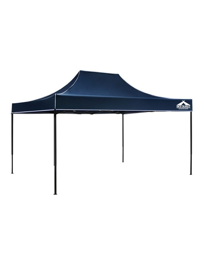 Instahut Gazebo 3x4.5m Pop Up Marquee Replacement Roof Outdoor Wedding Tent Navy image 1