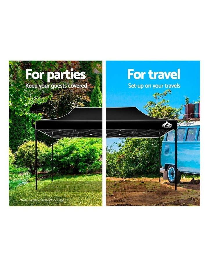 Instahut Gazebo 3x6m Pop Up Marquee Replacement Roof Outdoor Wedding Tent Black image 4